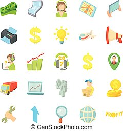 Fiscal icons set, isometric style - Fiscal icons set....