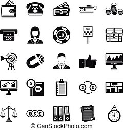 Aggregation icons set, cartoon style - Aggregation icons...