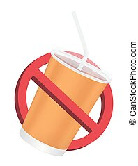 prohibition no drinking sign on a white background