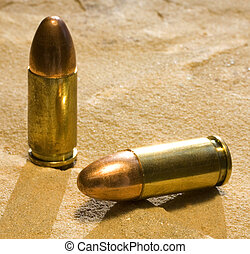 bullets - 9 mm full metal jacketed cartridges for self...