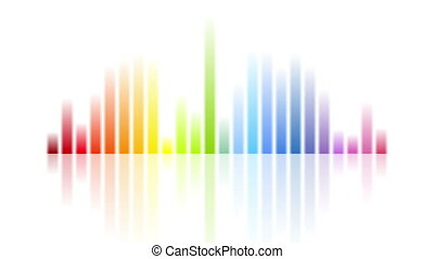 Rainbow colors musical equalizer video animation