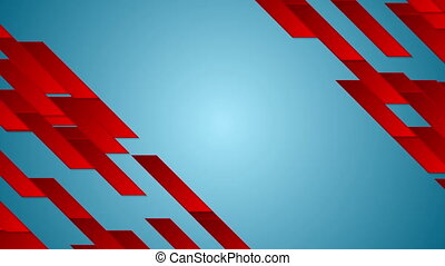 Bright tech geometric abstract video animation - Bright red...
