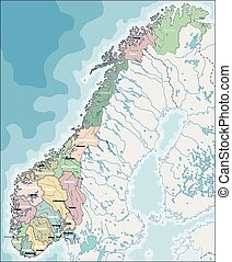 Map of Norway - Norway is a sovereign state and unitary...