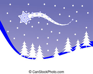 Christmas winter scene background