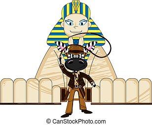 Cute Zebra and Sphinx