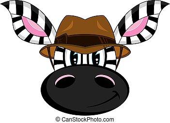 Zebra Explorer in Hat