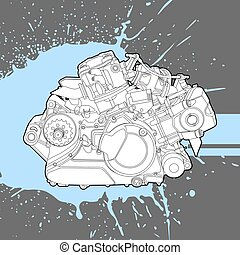 Internal combustion engine from the machine - Internal...