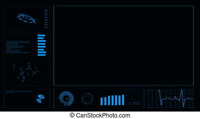 Futuristic user interface HUD. Abstract background. 4k