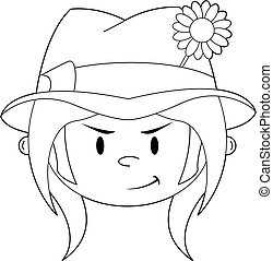 Cute Hippie Boy Outline - Cute Cartoon Flower Power Hippie...
