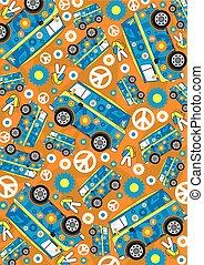 Cute Hippie Van Pattern