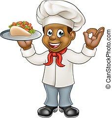 Cartoon Chef Kebab