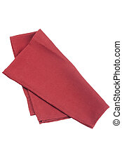 Table napkins of cloth on a white background
