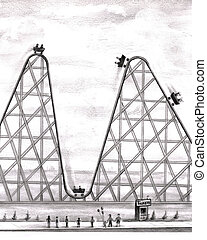 Better Worse Roller Coaster - Up and down in an amusement...