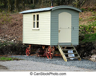 Caravan - Traditional hut or caravan in Cumbria, UK
