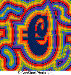 Groovy Money - Rainbow Euro