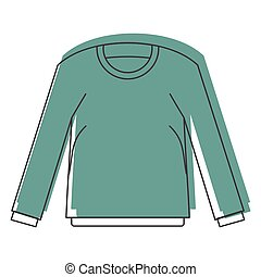 Shirt with long sleeves in doodle style icons vector illustration for design and web isolated