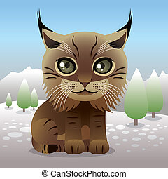 Lynx - Illustration of a baby lynx, more animals in my...