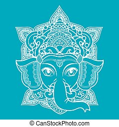 Lord Ganesha. Vector illustration of colorful Happy Lord...