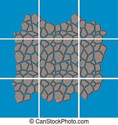 stone tiles kit - seamless stone tiles construction kit with...