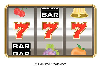 triple seven number on slot machine vector