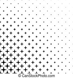 Monochrome star pattern - vector background graphic design from geometric shapes