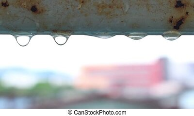 water dripping from old pipe