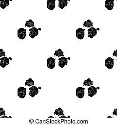 Brainstorming icon in black style isolated on white background. Conference and negetiations symbol stock vector illustration.