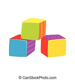Vector cubes toy flat illustration isolated