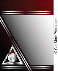 A deep red and Silver Business card or Background Template...