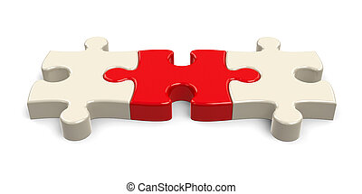 Three puzzle pieces