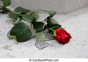 Rose with heart