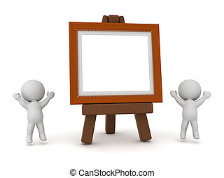 3D Character and Artwork Frame