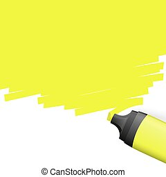 colored highlighter with marking - yellow colored...