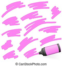 colored highlighter with markings - red colored high lighter...