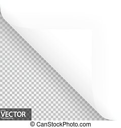 Paper corner with vector transparency - lower left paper...