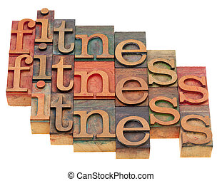 fitness word abstract - fitness concept - word abstract in...