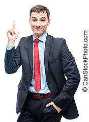 Very good idea! Portrait of a successful businessman with a...