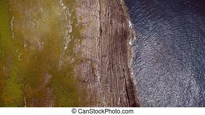 Aerial, Irish Cliffs, County Cork, Ireland - Graded and...