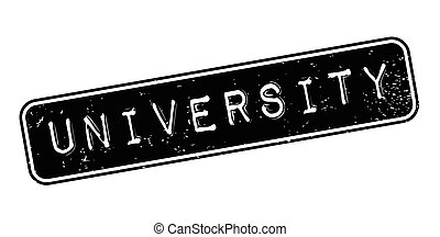 University rubber stamp. Grunge design with dust scratches....