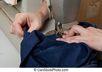 Work on the sewing machine