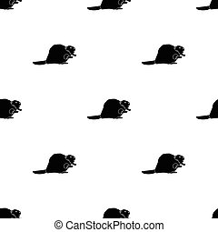 Canadian beaver. Canada single icon in black style vector...