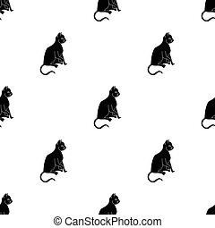 American Shorthair icon in black style isolated on white...
