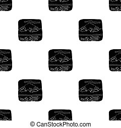 Canadian waterfall. Canada single icon in black style vector...