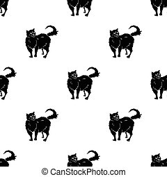 Persian icon in black style isolated on white background. Cat breeds symbol stock vector illustration.