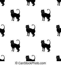 British Shorthair icon in black style isolated on white...