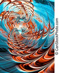 Abstract futuristic twirl - digitally generated image