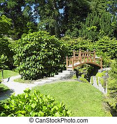 Japanese Garden, Powerscourt Gardens, County Wicklow,...