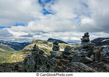 View from the mountain Dalsnibba in Norway.
