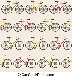 Seamless pattern with bicycles