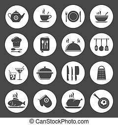 Cooking & kitchen icon set